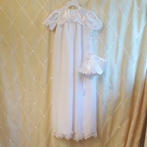 Other - Baptism white dress w/ bonnet